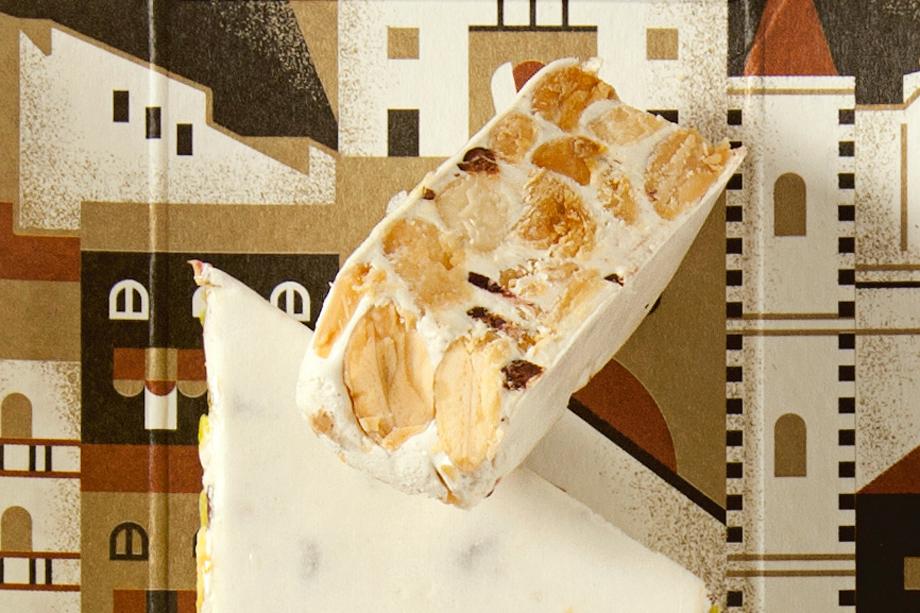 Sabadí, Turrón Blanco con almendras de Noto Turrón Blanco con almendras de Noto y Cacao Nacional
