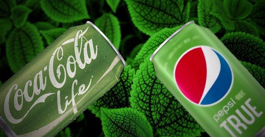 Coca-Cola y Pepsi stevia