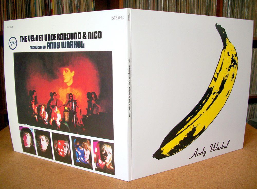 contraportada y portada The banana album, Velvet Underground y Warhol