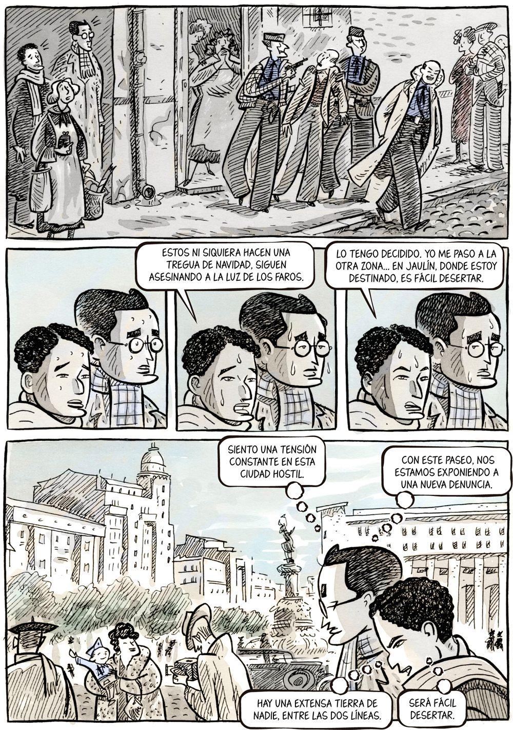 Atrapado en Belchite, novela gráfica de Sento Llobell