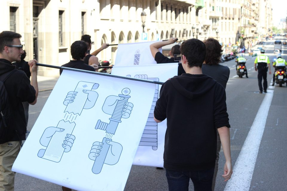Calle, el diseño como un medio para la acción y protesta reivindicativa