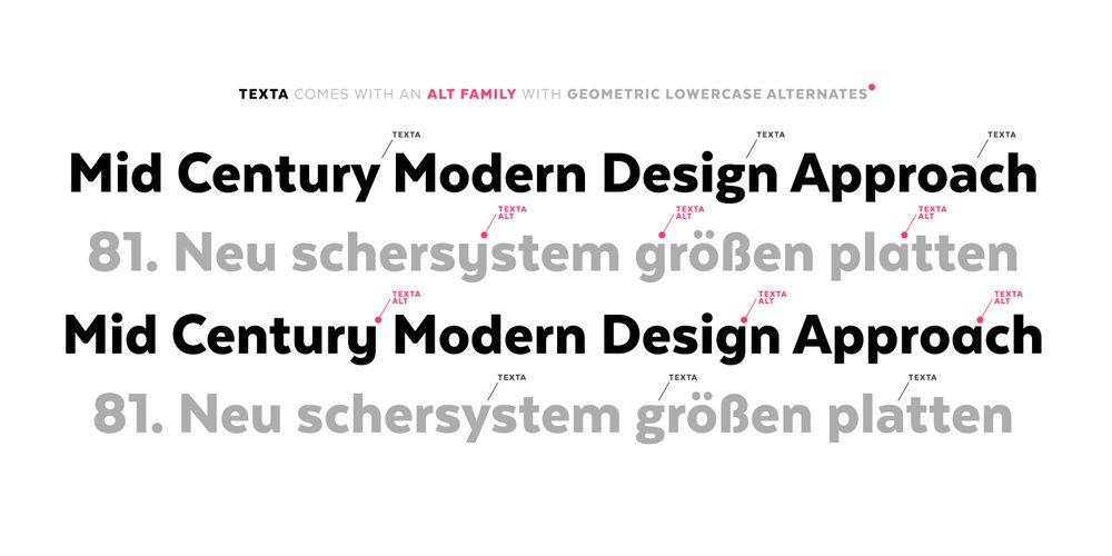 Texta, una familia sans serif apta para todo