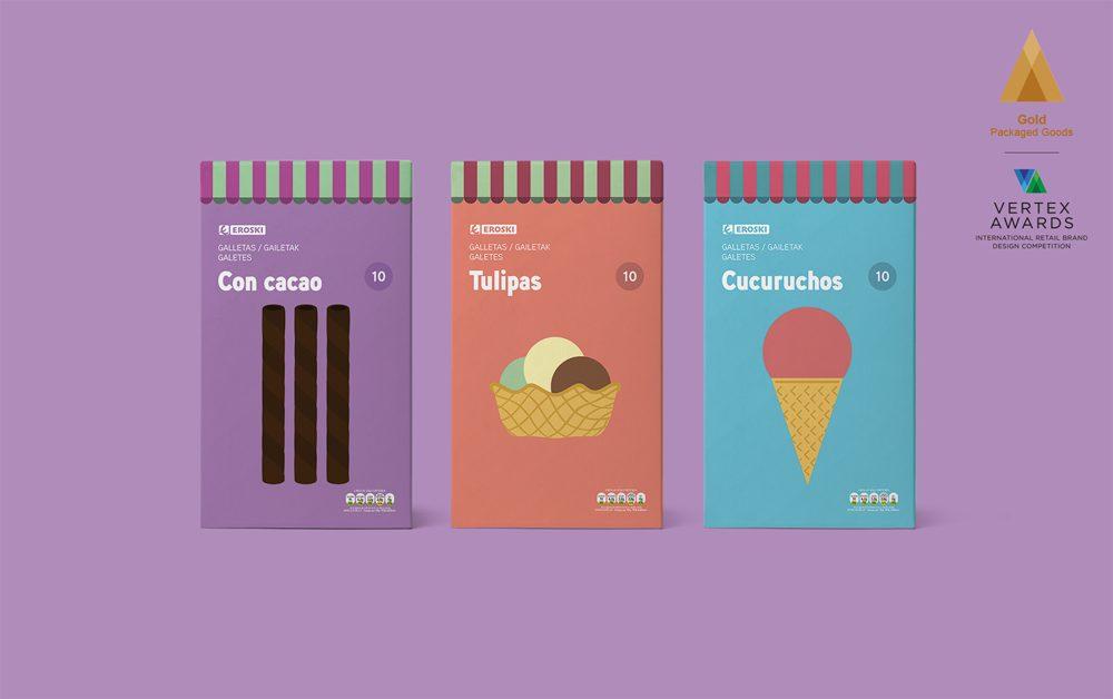 Supperstudio obtiene el Best Show por el diseño global de packaging de Eroski en los Vertex Awards