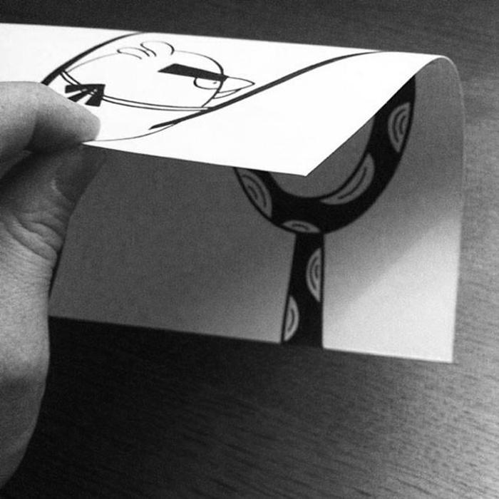 Las ilustraciones con efecto óptico de HuskMitNavn