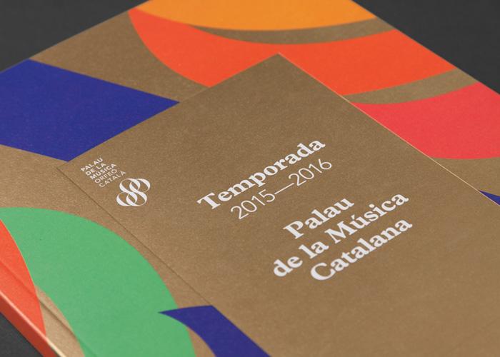 Eclecticismo gráfico para la temporada 2015-2016 del Palau de la Música de Barcelona