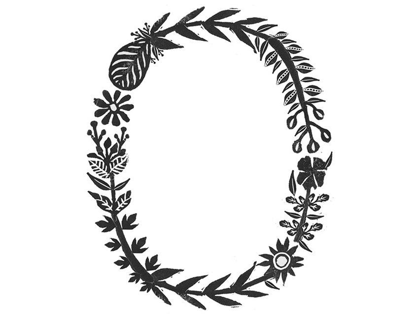 Alfabeto tipográfico floral de Meni Chatzipanagiotou