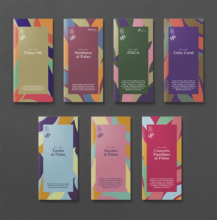 Eclecticismo gráfico para la temporada 2015-2016 del Palau de la Música Catalana con diseño de Clase Bcn