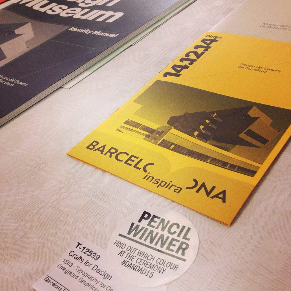 Pencil Winner para Atlas – Museu del Disseny de Barcelona y el Disseny Hub Barcelona