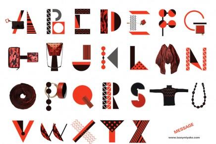 El imaginativo alfabeto de Issey Miyake
