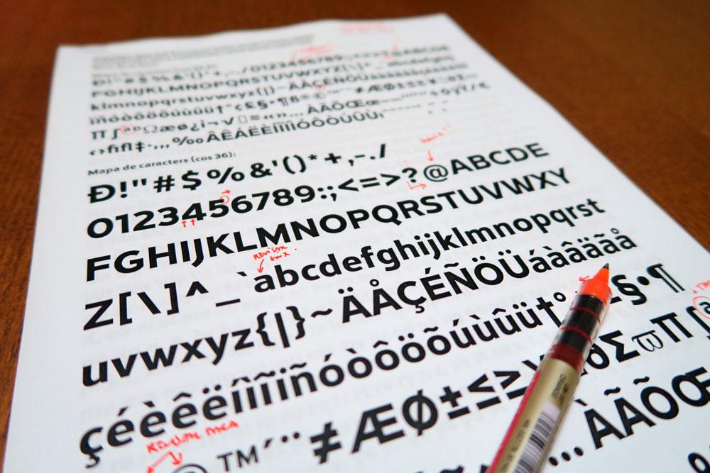 Tipografía Rioja – pruebas y correcciones