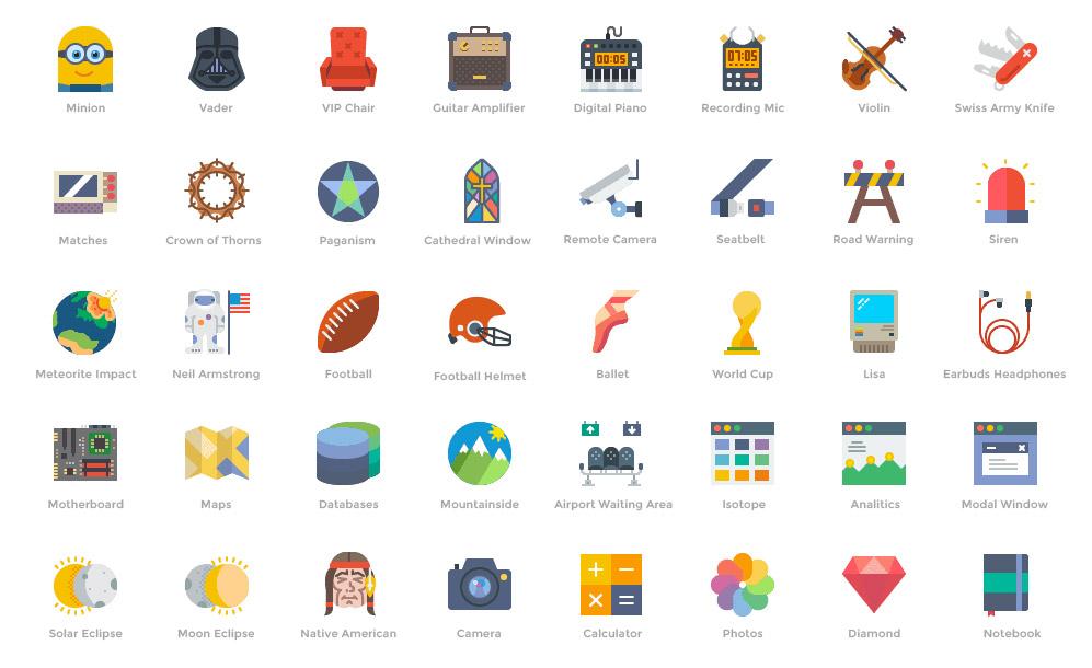 00 iconos gratuitos, muy cool y disponibles en 4 estilos de Smashicons