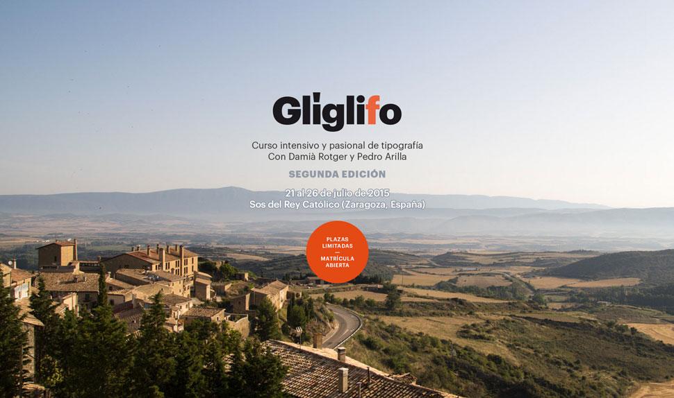 Glíglifo, curso de tipografía intensivo en verano