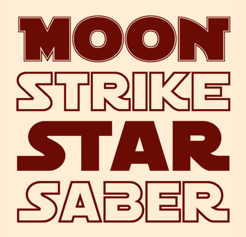 Dos tipografías 'galácticas', al estilo Star Wars