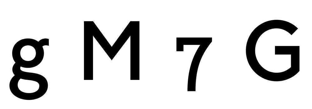 GF Smith tipografía propia