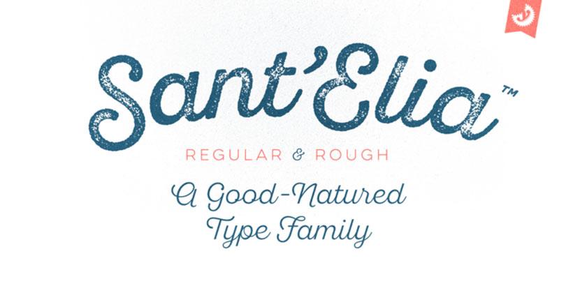 Sant'Elia una tipografía de estilo stencil
