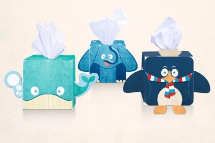 Tesco Tissues. Un guiño divertido para un packaging familiar