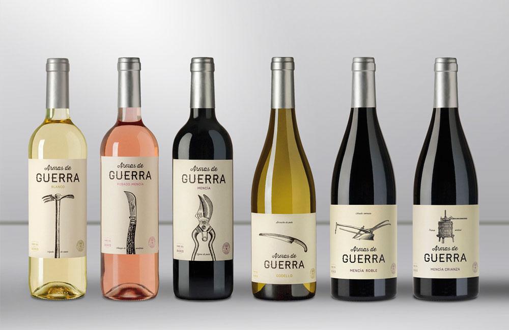 Etiquetas de vino en Armas de Guerra