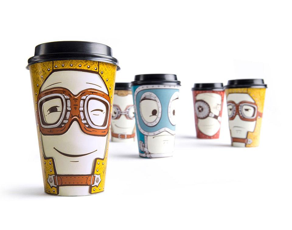 Los vasos para café que cambian según el estado emocional