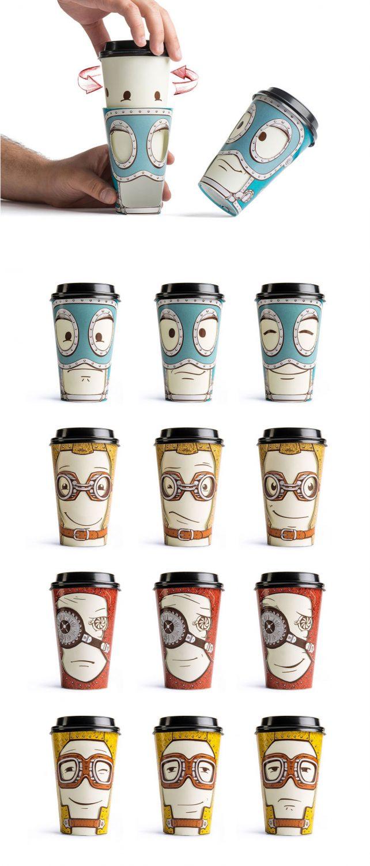 Los vasos de café que cambian según el estado emocional