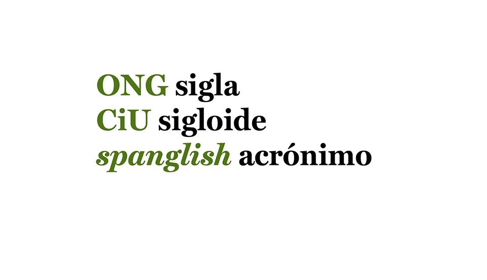 Ortotipografía: Cómo se escriben los sigloides y acrónimos