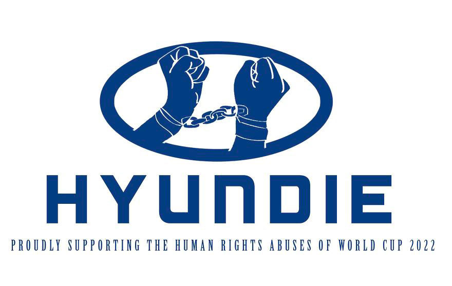 Anti-logos contra la explotación laboral en el Mundial de Qatar 2022