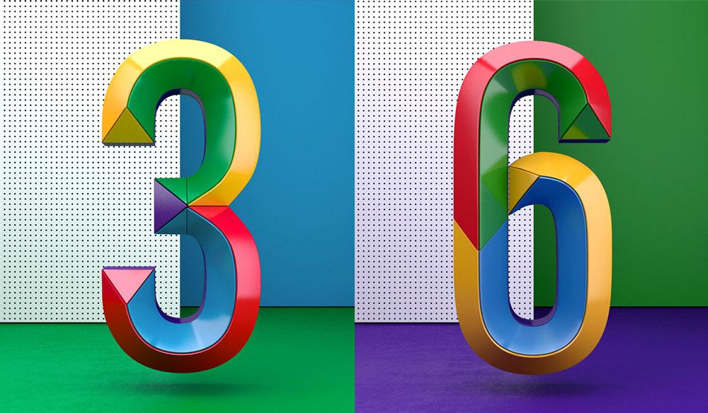 Detrás de Muokkaa Studio está el diseñador Alex López, un crack en el manejo del 3D, la ilustración, la tipografía y el color. «Siempre estoy buscando inspiración y nuevos proyectos en los que involucrarme», explica en su web. Y como muestra, aquí te dejamos estos Colourful Numbers