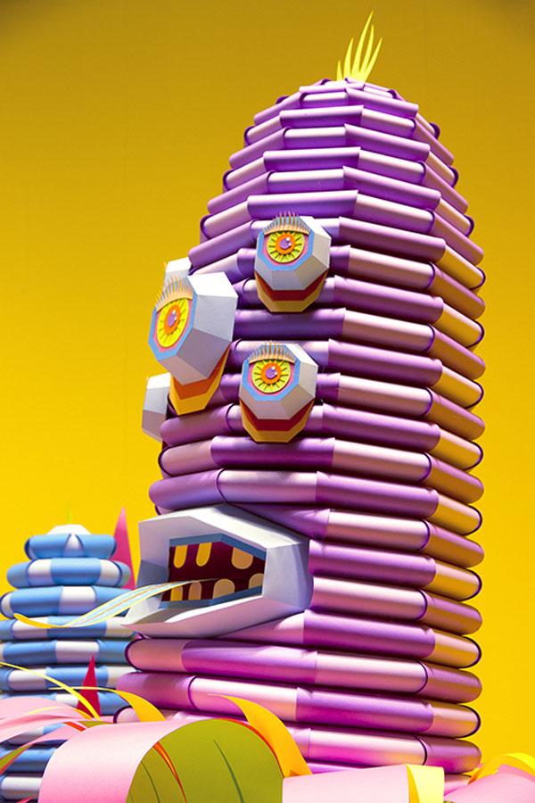 Los maravillosos monstruos en papercut de ZimZou
