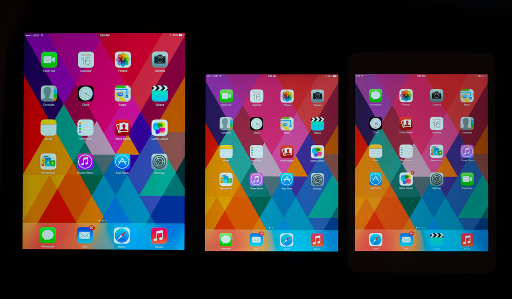 Los iPad Mini Retina no reproducen el color sRGB al 100%
