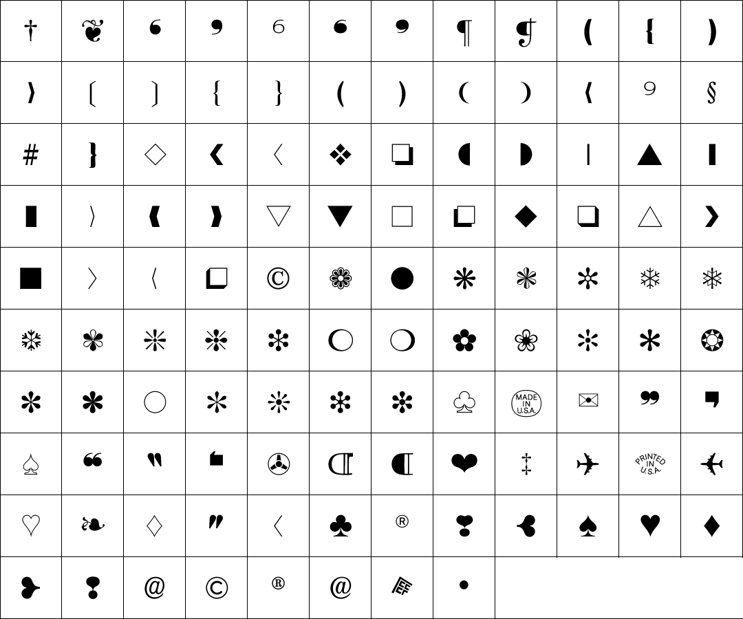 zapf-dingbats