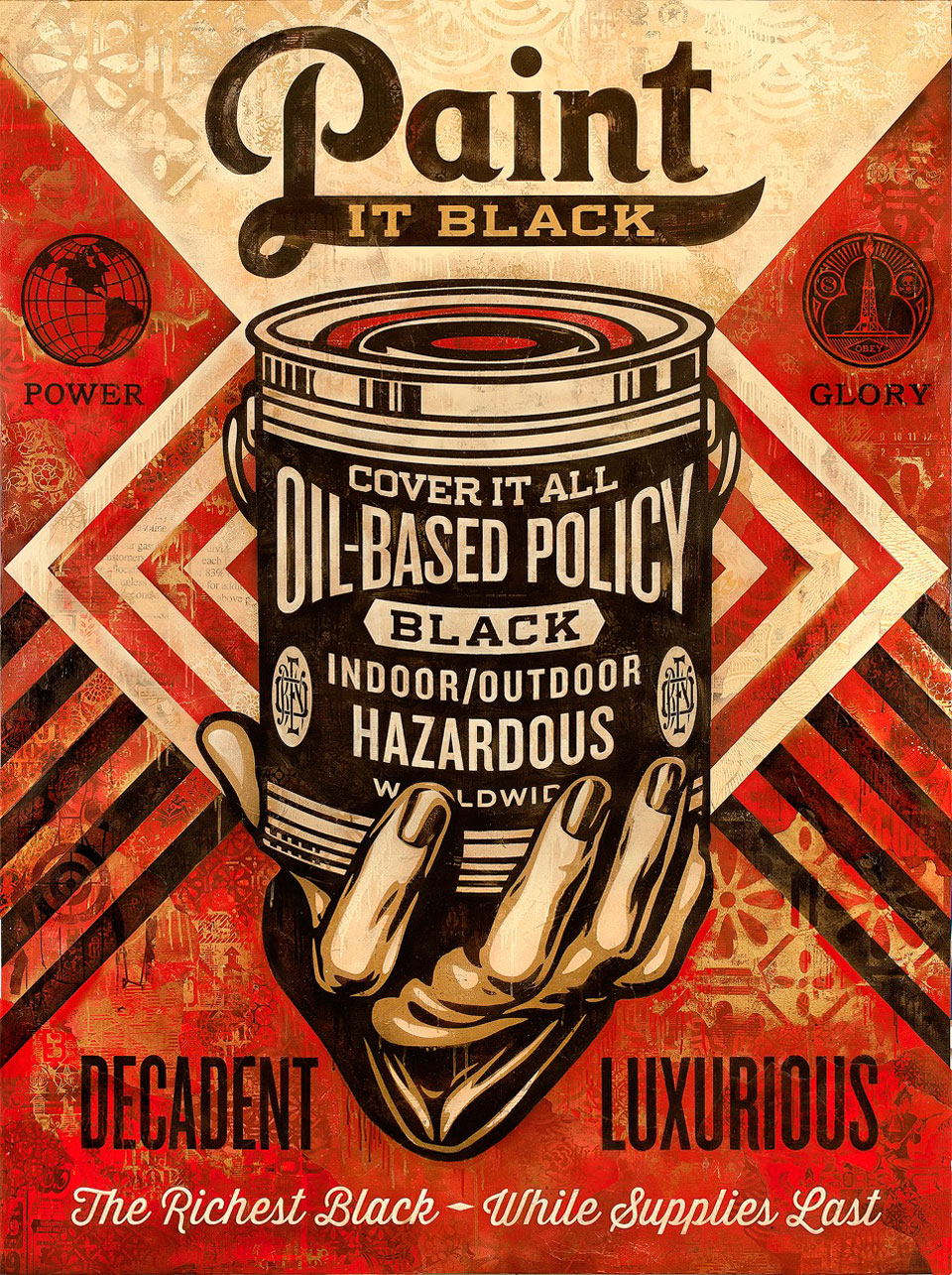 Shepard Fairey – Paint it Black