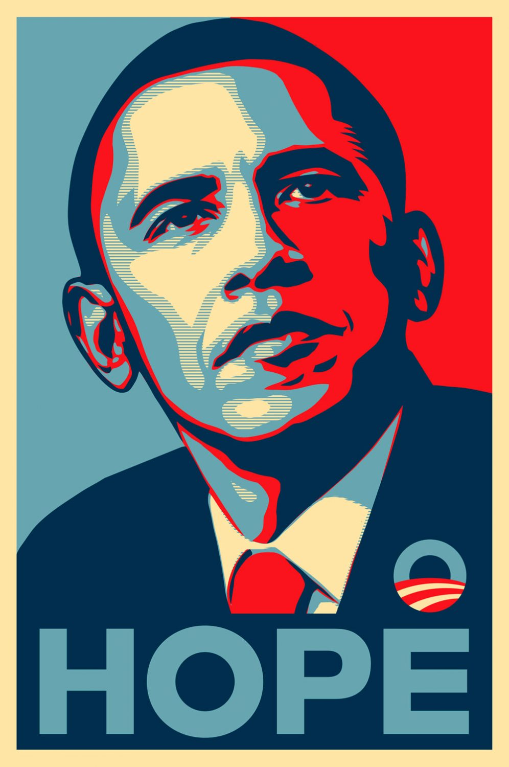 retrato de Obamo Hope por Shepard Fairey