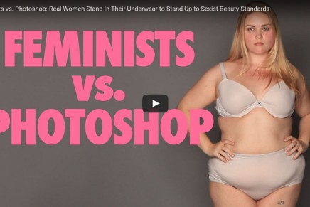 Feminists vs. Photoshop: Real Women Stand In Their Underwear to Stand Up to Sexist Beauty Standards
