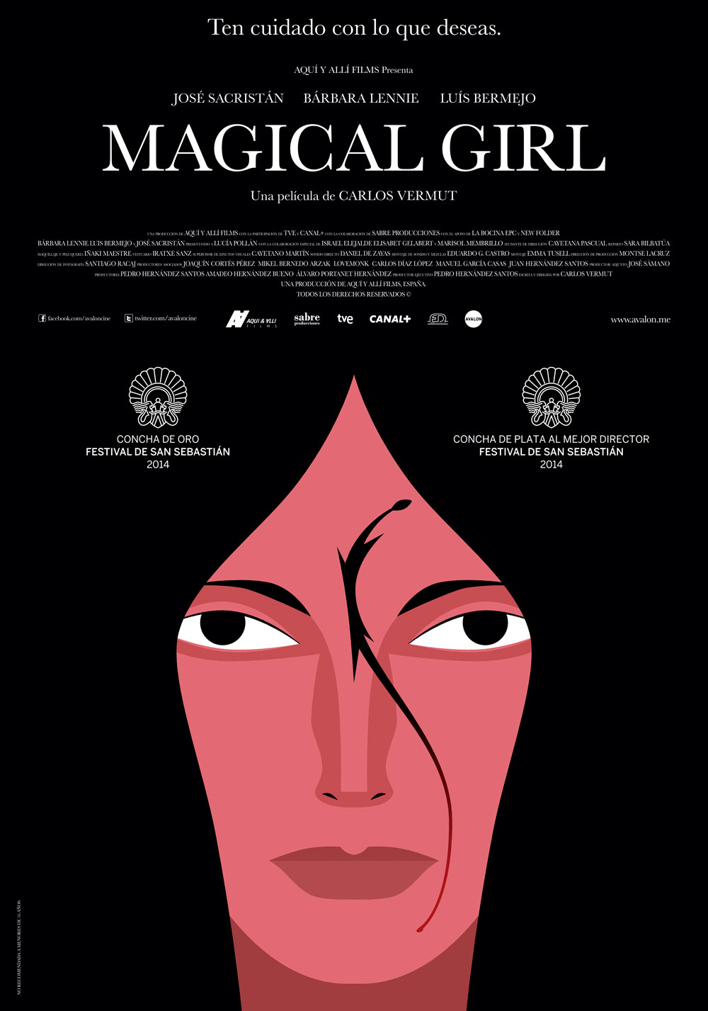 carteles de cine – cartel del film Magical Girl