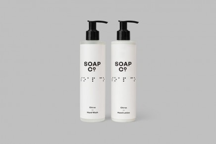 Soap Co., limpieza visual en un packaging de jabón