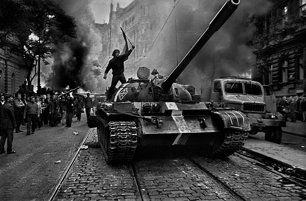 CZECHOSLOVAKIA. 1968. Prague. Invasion of Warsaw Pact troops.