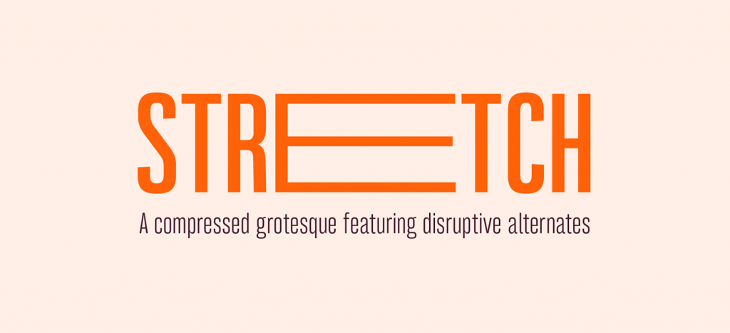 Bw Stretch, una tipo compressed grotesque ideal para titulares