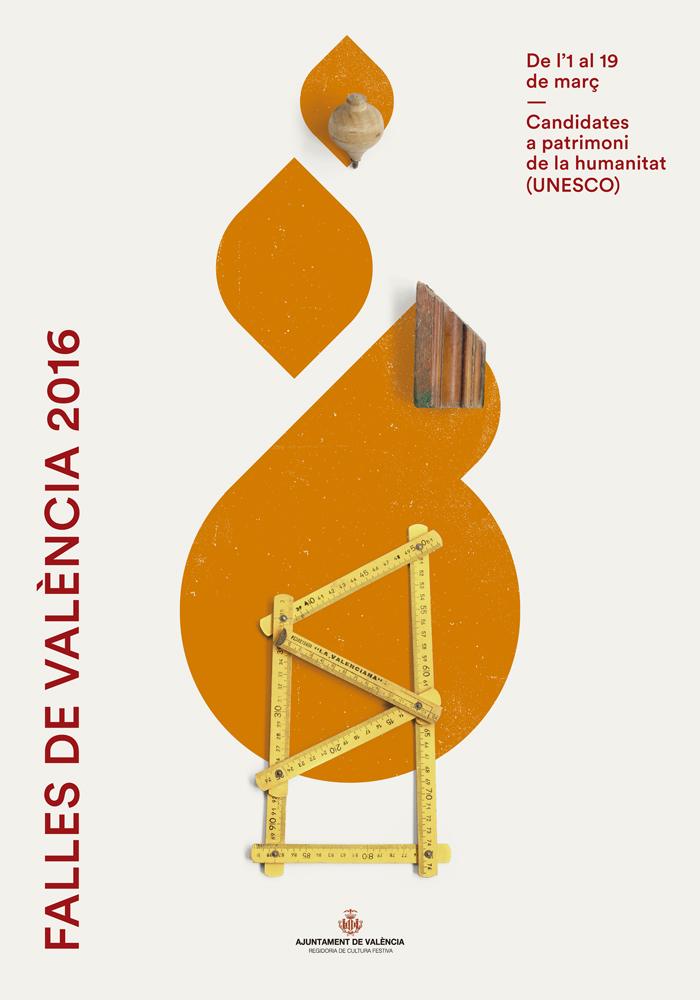 Iván Ramón diseña los carteles de las Fallas de 2016
