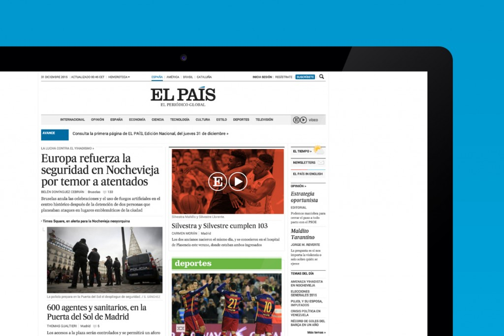 Erretres diseña la identidad de El País Vídeo, el nuevo canal de TV de El País