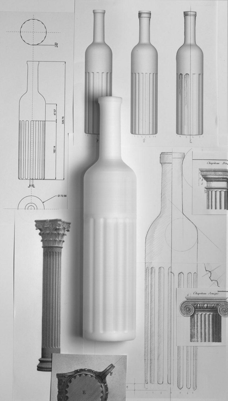 Homenaje a la columna clásica en el packging del vino Laudum, por Lavernia & Cienfuegos