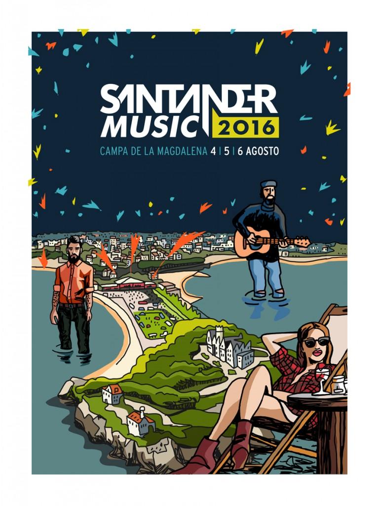 Mariscal - cartel Santander Music 2016