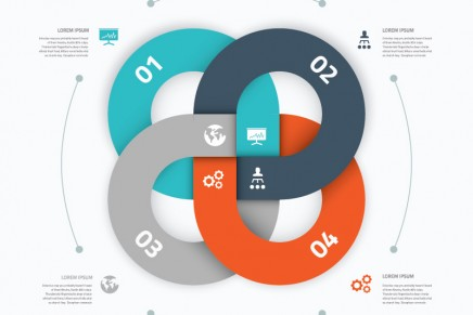 10 plantillas de infografías vectoriales de descarga gratuita