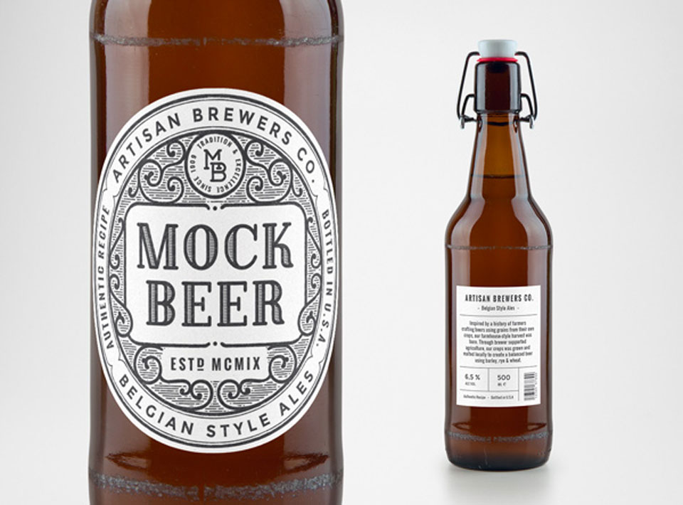 Mock up de packaging de cerveza gratis