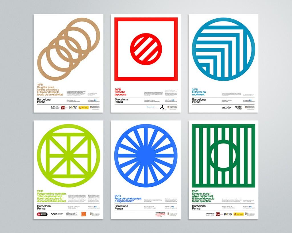 Todo un despliegue de símbolos para un festival de filosofía por Studio Carreras
