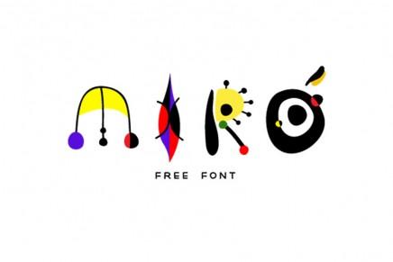 La esencia de tres grandes artistas en tres fuentes tipográficas