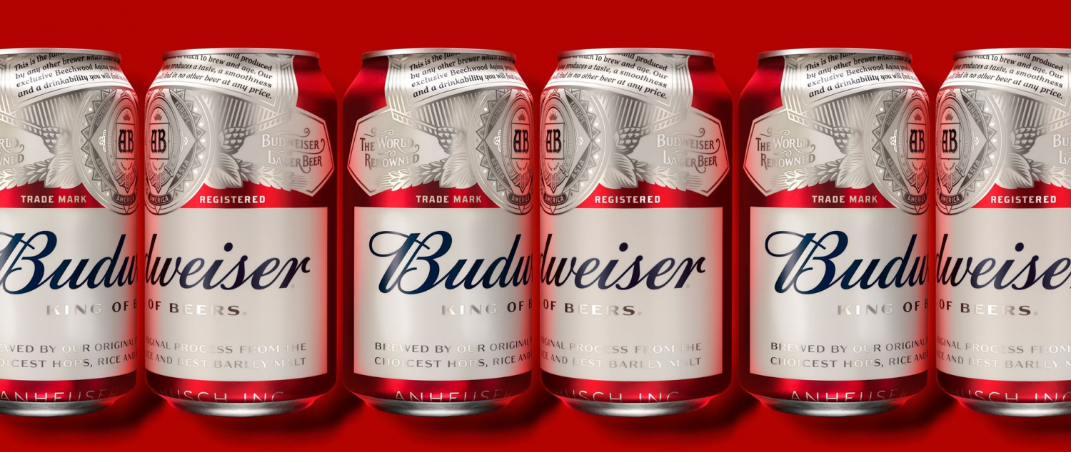 Budweiser vuelve a estrena packaging, por Jones Knowles Ritchie