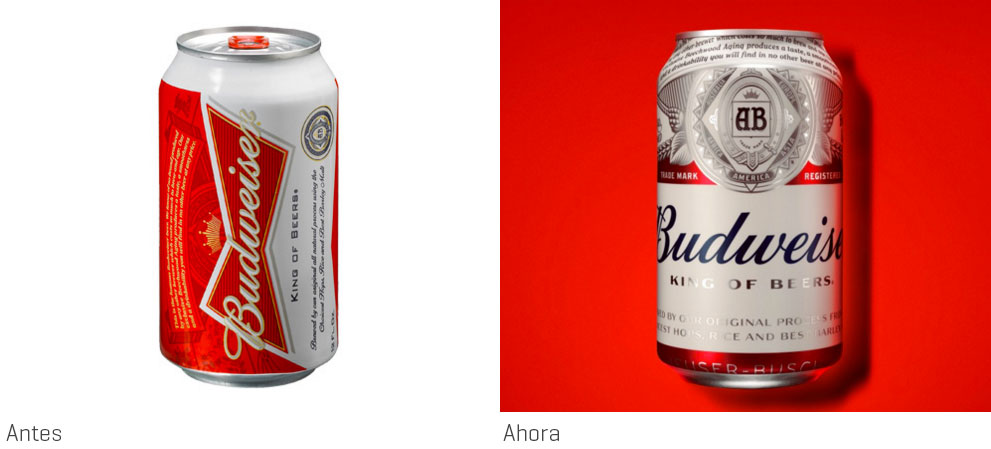 Budweiser vuelve a estrenar packaging, por Jones Knowles Ritchie