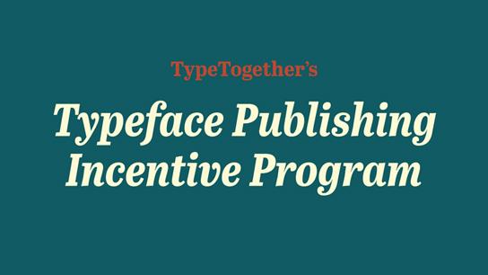 TypeTogether ayuda a estudiantes de tipografía a publicarle su fuente