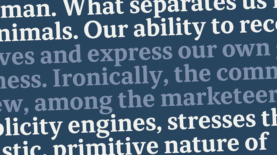 Atiza Text, tipografía amable para uso editorial