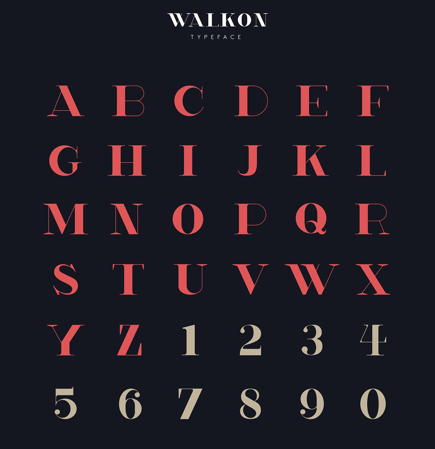 Walkon, tipografía gratuita creada para el mundo de la moda