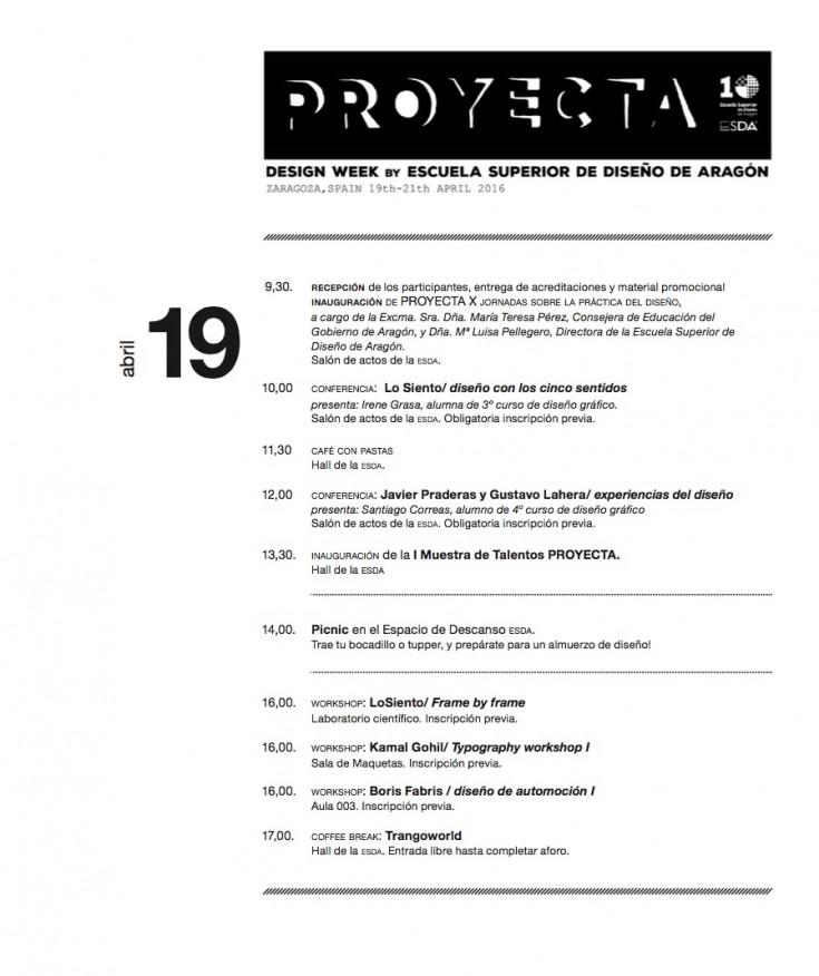 Proyecta, X Jornadas de Diseño de la ESDA
